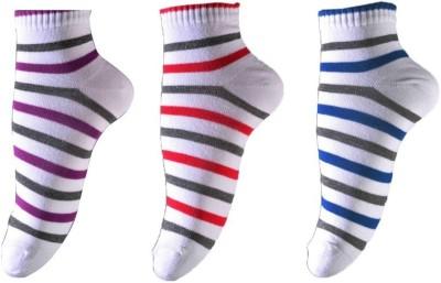 Ezzi Feet Women's Striped Ankle Length Socks