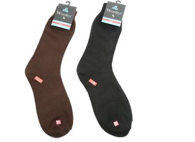 Woolex Men's Solid Crew Length Socks