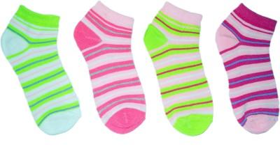 Axfort Girl's Striped Ankle Length Socks
