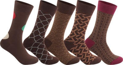 Supersox Men's Self Design Crew Length Socks