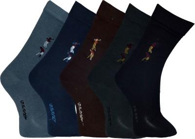 Gen Men's Graphic Print Crew Length Socks