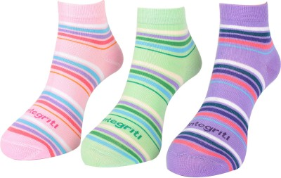 Integriti Women's Striped Ankle Length Socks
