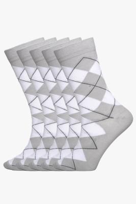 Tossido Mens Woven Crew Length Socks
