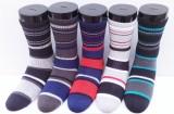 U turn Men's Striped Crew Length Socks