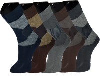 Grace excel Mens Graphic Print Crew Length Socks(Pack of 5)