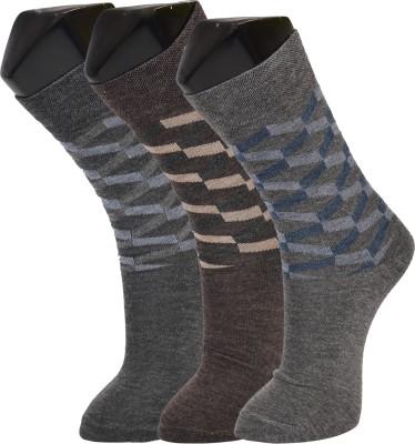 Welwear Men's Self Design Crew Length Socks