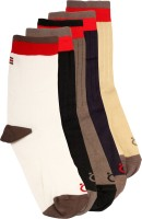 Lefjord Mens Printed Crew Length Socks(Pack of 5)