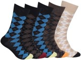 Royal Men's Self Design Ankle Length Soc...