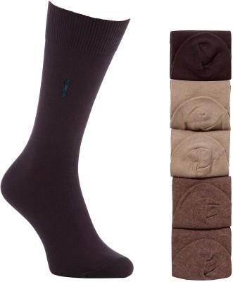 Goyal Knitting Men's Solid Mid-calf Length Socks