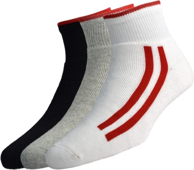 Peter England Mens Striped Ankle Length Socks(Pack of 3)