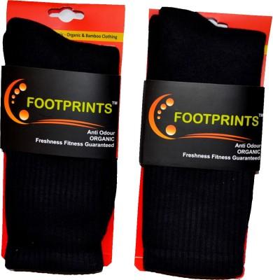 Footprints Men's Solid Over-the-Calf Length Socks