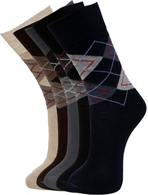 Vinenzia Men's Graphic Print Crew Length Socks