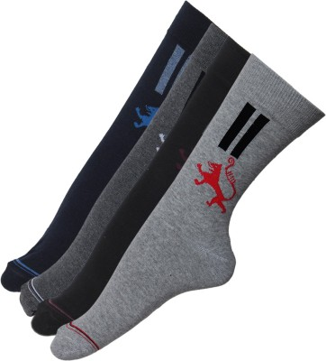 Stellen Men's Solid Crew Length Socks