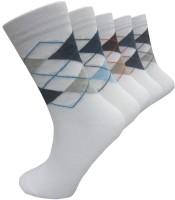 Morson Mens Geometric Print Crew Length Socks(Pack of 5)