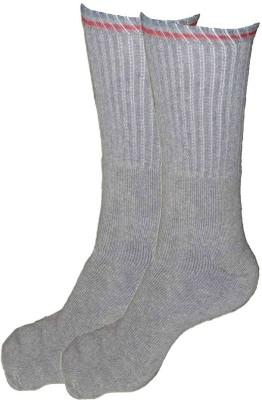 Alfa Runner Mens Striped Crew Length Socks