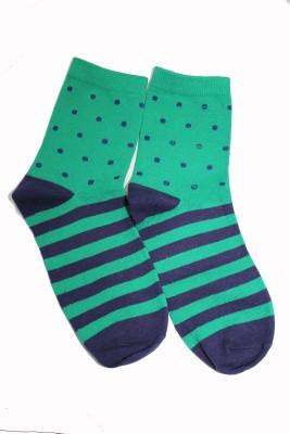 69th Avenue Mens Polka Print, Striped Ankle Length Socks