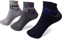 Rege Mens Striped Ankle Length Socks(Pack of 3)