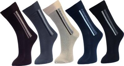 Sir Michele Men's Self Design Crew Length Socks