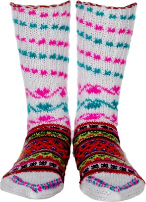 Quetzal Women's Self Design Crew Length Socks
