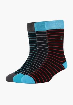 Van Heusen Men's Striped Crew Length Socks