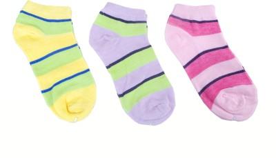 Jainam Women's Striped Ankle Length Socks(Pack of 3) at flipkart