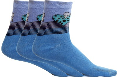MACCAINO Women's Printed Ankle Length Socks