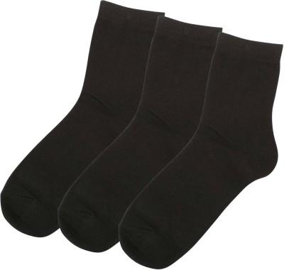Zobello Men's Solid Crew Length Socks