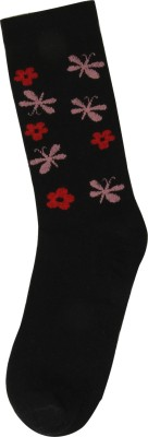 Renzer Women's Floral Print Knee Length Socks