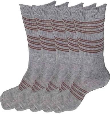 Alfa Jwala Mens Solid Crew Length Socks(Pack of 5)