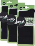 Smell Free Men's Solid Crew Length Socks