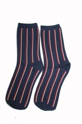 69th Avenue Mens Striped Mid-calf Length Socks