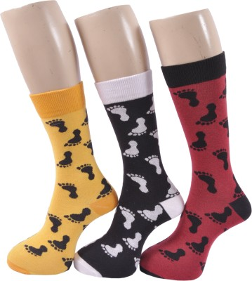 A&G Men's Self Design Crew Length Socks