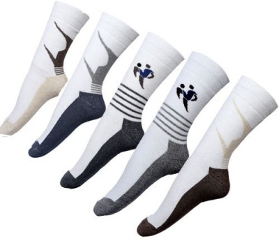 By The Way Men's Striped Crew Length Socks