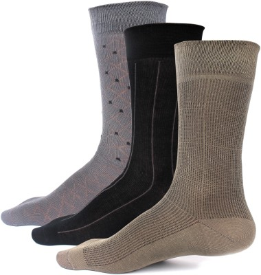 Speak Premium Men's Striped, Checkered, Self Design Mid-calf Length Socks
