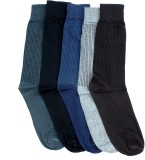 Gen Men's Self Design Crew Length Socks ...
