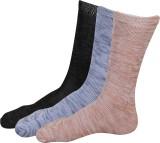 YLON Men's Self Design Crew Length Socks
