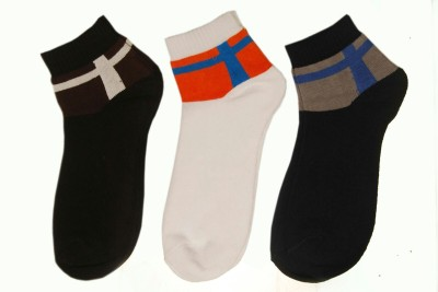 Gentle Men's Solid Ankle Length Socks
