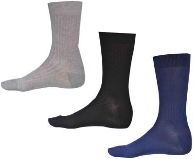 Ezzi Feet Men's Solid Crew Length Socks