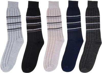 ZACHARIAS Men's Striped Crew Length Socks