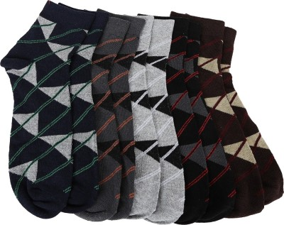 ATC Men's Printed Ankle Length Socks