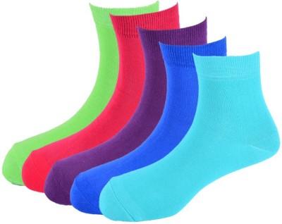 Calzini Men's Solid Crew Length Socks