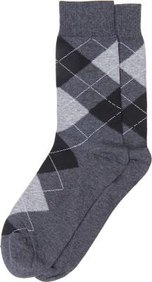 Graceway Men's Geometric Print Crew Length Socks