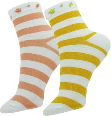 Neska Moda Women's Striped Ankle Length Socks(Pack of 2) at flipkart
