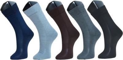 Sir Michele Men's Solid Crew Length Socks