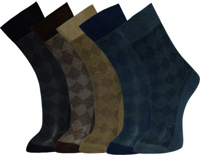 Vinenzia Men's Self Design Crew Length Socks