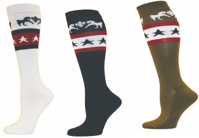 Equine Couture Men's Self Design Knee Length Socks