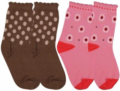 Ollington St. Collection Baby Girl's Polka Print, Floral Print Quarter Length Socks