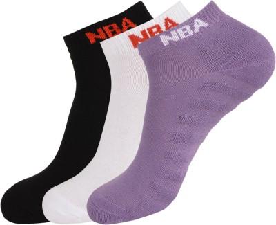 NBA Women's Ankle Length Socks(Pack of 3) at flipkart