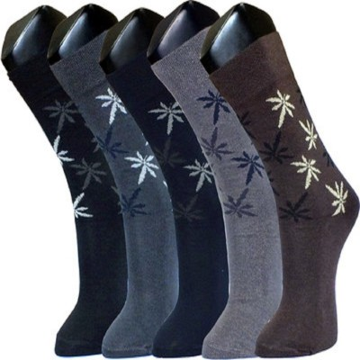 Well Wear Men,s Floral Print Crew Length Socks