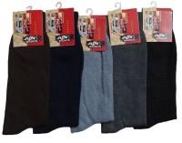Alfa Metro Mens Self Design Mid-calf Length Socks(Pack of 5)